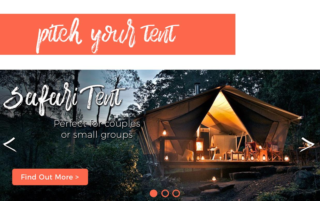 Glamping website design