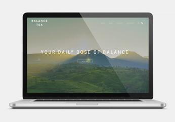 balance tea website design