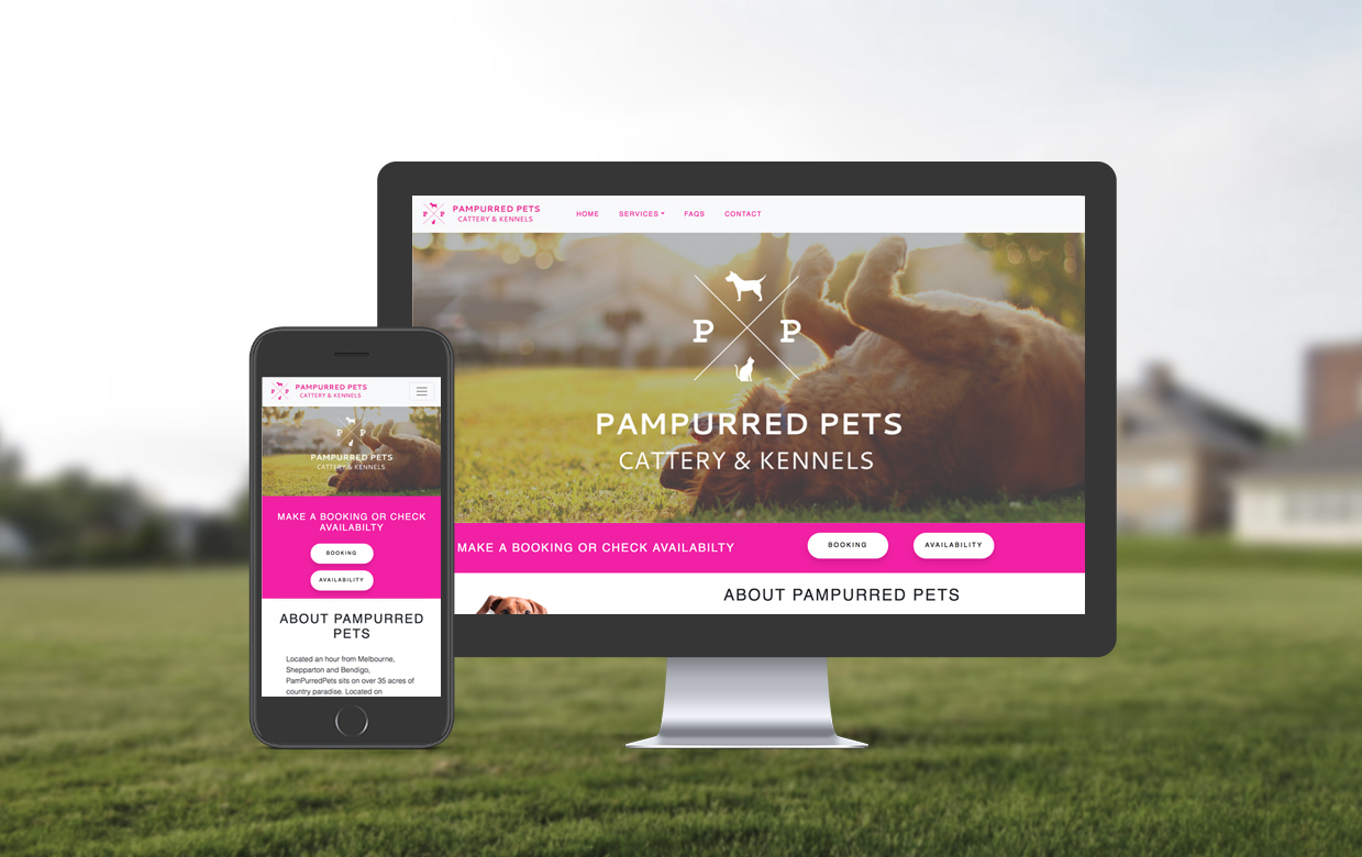 Website redesign and branding redesign for Pampurred Pets