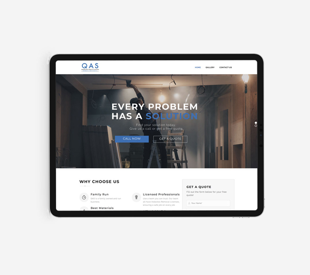 website design for QAS